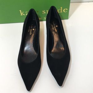 Kate Spade Black Kid Suede Women's Pumps Size 8 M